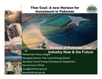 Thar Coal- A New Horizon for Investment - Sindh Board Of ...