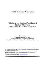 The social and emotional wellbeing of students who bully different ...
