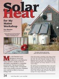 Solar Heat: for My Maine Workshop - Home Power Magazine