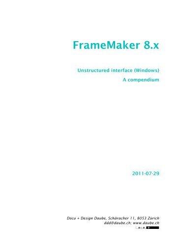 FrameMaker 8 compendium - Docu + Design Daube