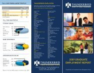 2009 Employment Report.qxp - Thunderbird School of Global ...