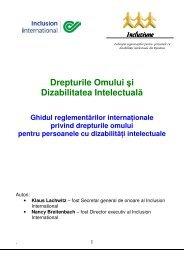 Drepturile Omului şi Dizabilitatea Intelectuală