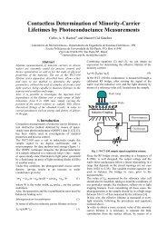 Contactless Determination of Minority-Carrier Lifetimes ... - LSI - USP