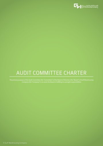 AUDIT COMMITTEE CHARTER - Gulf Warehousing Company