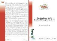 Coordination et qualité dans les filières ... - Umr moisa - Cirad