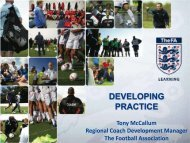 DEVELOPING PRACTICE - The Football Association