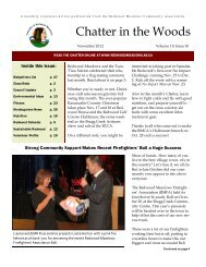November 2012 Chatter - Townsite of Redwood Meadows