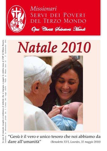 Natale 2010 - Misioneros Siervos de los Pobres del Tercer Mundo