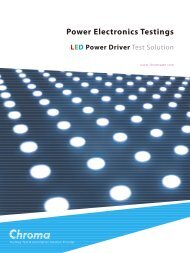 LED Power Driver Test Solution - Chroma Systems Solutions Inc.
