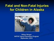 Preventing Unintentional Injuries Among Children and Teens - ANTHC