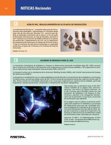NOTICIAS Nacionales - Revista Metal Actual