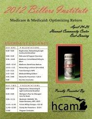 12 Billers Institute Brochure - Health Care Association of Michigan