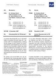Client information - P+P Pöllath + Partners