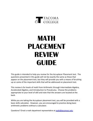 Download Bergen Community College Placement Test Study Guide