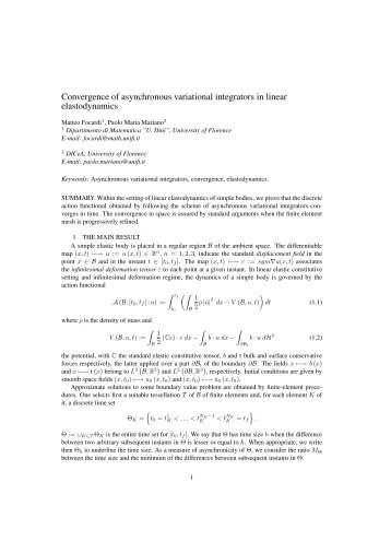 Convergence of asynchronous variational integrators in linear ...