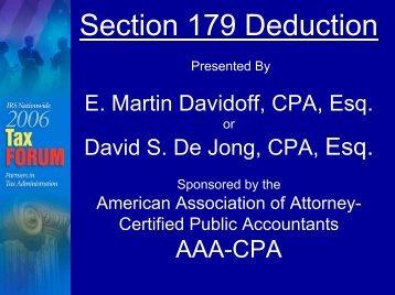 Section 179 Deduction - FERM