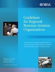Guidelines for Regional Business Aviation Organizations - NBAA