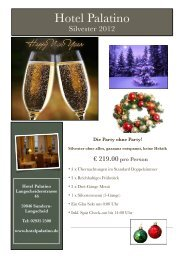 Die Party ohne Party! - Hotel-Restaurant Palatino