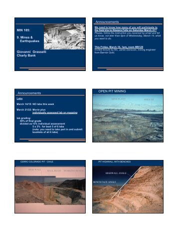 MIN 185: 9. Mines & Earthquakes Giovanni ... - Civil Engineering