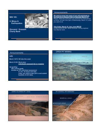 MIN 185: 9. Mines & Earthquakes Giovanni ... - Civil Engineering