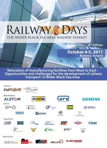 October 4-5, 2011 - Railway Days 2013 - Club Feroviar