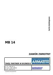 mb, mb14, mb 14, zawór zwrotny międzykołnierzowy ... - ARMATERM