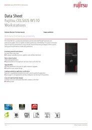 Data Sheet Fujitsu CELSIUS W510 Workstations - eD' system Czech ...