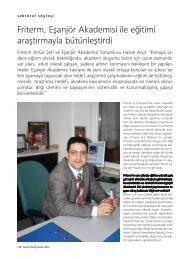 Friterm, Eşanjör Akademisi ile eğitimi araştırmayla bütünleştirdi
