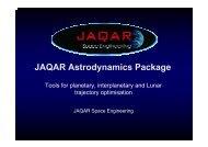 JAQAR Astrodynamics Package - ESA