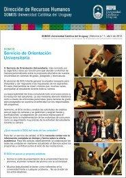 Somos 1 - SOU.cdr - Universidad Católica del Uruguay