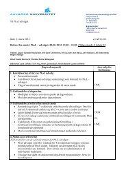 Referat - Det Samfundsvidenskabelige Fakultet