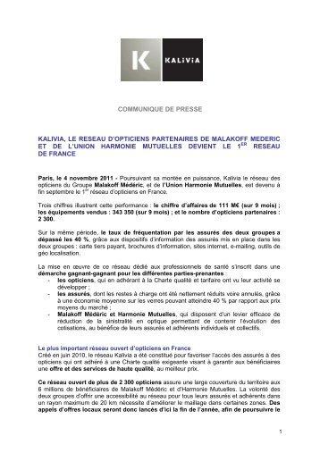 Créé par Malakoff Médéric et Harmonie Mutuelles le réseau optique ... c0ab2eb2a761