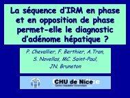 La séquence d'IRM en phase et en opposition de phase permet-elle ...