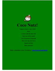 Coco Nutz! - TRS-80 Color Computer Archive