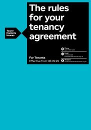 The rules for your tenancy agreement - Tower Hamlets Homes