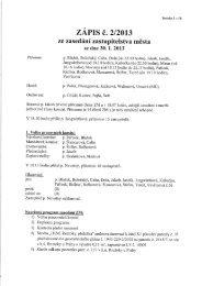 ZÁPIS č. 2/2013 - Město Roztoky