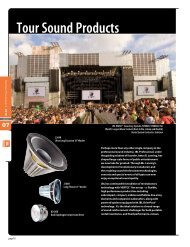 Full Line Catalog - Tour Sound 2013 - JBL Professional