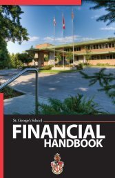 financial handbook - St. George's School