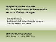 Vortrag Peter Tossmann - Österreichische ARGE Suchtvorbeugung