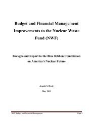 Budget and Financial Management Improvements to the Nuclear ...