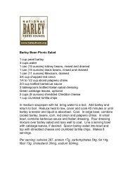 Barley Bean Picnic Salad - BarleyFoods.org