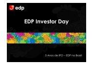 Apresentação EDP Investor Day - EDP no Brasil   Investidores