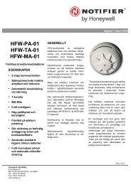 HFW-PA-01 HFW-TA-01 HFW-MA-01 - Notifier