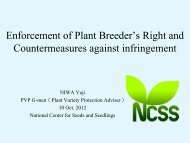 Enforcement of Plant Breeder's Right and Countermeasures against ...