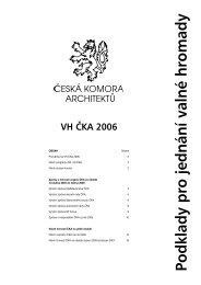 Příloha k bulletinu 1/2006 (pdf) - Česká komora architektů