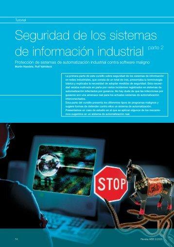 Seguridad de los sistemas de información industrial ... - Contact ABB