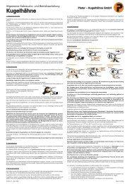 Allgemeine Gebrauchs- und Bedienungsanleitung - Kugelhähne