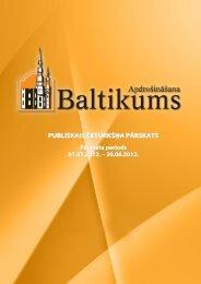 Finanšu rādītāji par 2012.gada 2.ceturksni - Baltikums