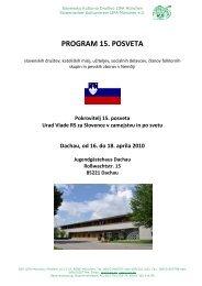 Program posveta - Urad Vlade Republike Slovenije za Slovence v ...