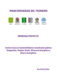 Eco- EnerCenter Mancomunidad Txorierri - Premio Conama
